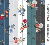 seamless flower pattern on... | Shutterstock .eps vector #1961803543