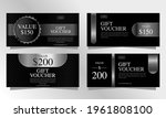 set of luxury black and silver... | Shutterstock .eps vector #1961808100