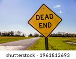 Dead End Road Sign With A Road...