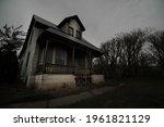 Dark Spooky Abandoned Haunted...