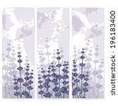 blank vector card templates... | Shutterstock .eps vector #196183400