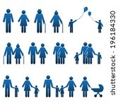 family people icons | Shutterstock .eps vector #196184330