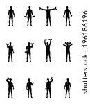 Man Lifts Weights Vector...