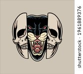 panther tattoo illustration...   Shutterstock .eps vector #1961889376