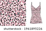 abstract animal skin leopard... | Shutterstock .eps vector #1961895226