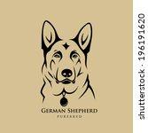 german shepherd dog   vector... | Shutterstock .eps vector #196191620