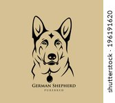 German Shepherd Dog   Vector...