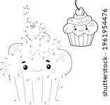 dot to dot puzzle for children. ... | Shutterstock .eps vector #1961954476