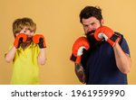 Child Sportsman At Boxing...