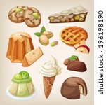 set of traditional italian... | Shutterstock .eps vector #196198190