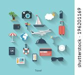 travel and tourism modern... | Shutterstock .eps vector #196201169