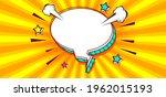 blank speech bubble comic book  ... | Shutterstock .eps vector #1962015193