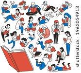 doodles illustration of various ... | Shutterstock .eps vector #1962054913