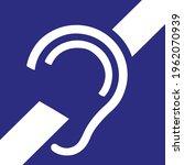 deaf symbol. vector... | Shutterstock .eps vector #1962070939