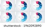 set of vector modern circle... | Shutterstock .eps vector #1962092890