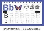 educational alphabet b tracing...