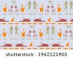 ancient egyptian symbols... | Shutterstock .eps vector #1962121903