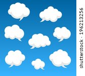 flat speech clouds for you... | Shutterstock .eps vector #196213256