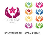 massage spa symbol logo design... | Shutterstock .eps vector #196214834