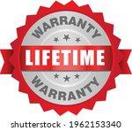 lifetime warranty stamp vector... | Shutterstock .eps vector #1962153340