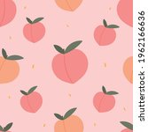 peaches seamless pattern for... | Shutterstock .eps vector #1962166636