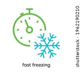 fast freezing icon. it is the... | Shutterstock .eps vector #1962190210