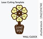 flower pot laser cutting wall...   Shutterstock .eps vector #1962194740