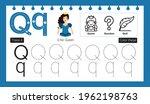 educational alphabet q tracing...