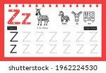 educational alphabet z tracing...