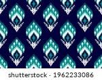 indian ikat seamless pattern...   Shutterstock .eps vector #1962233086