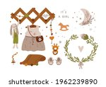baby shower collection in boho...   Shutterstock .eps vector #1962239890