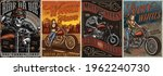 vintage motorcycle colorful... | Shutterstock .eps vector #1962240730