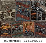 custom motorcycle vintage... | Shutterstock .eps vector #1962240736