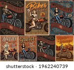 motorcycles and pretty women... | Shutterstock .eps vector #1962240739