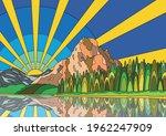 psychedelic color scenery ... | Shutterstock .eps vector #1962247909