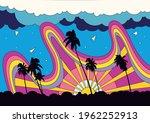 psychedelic color scenery ... | Shutterstock .eps vector #1962252913