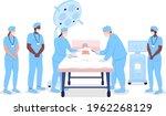 medical interns watching...   Shutterstock .eps vector #1962268129