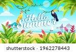 summer beach landscape ... | Shutterstock .eps vector #1962278443