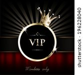 vip background with crown and... | Shutterstock .eps vector #196228040