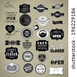 set of vintage retro labels | Shutterstock . vector #196229186