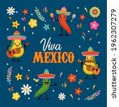 cinco de mayo mexican holiday... | Shutterstock .eps vector #1962307279