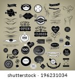 set of vintage retro labels | Shutterstock . vector #196231034
