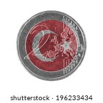 Euro Coin  2 Euro  Isolated On...