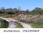 Large Manure Heap By The Side...