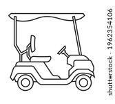 golf cart vector outline icon.... | Shutterstock .eps vector #1962354106