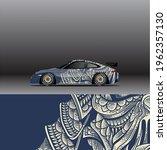 car wrap decal designs.... | Shutterstock .eps vector #1962357130