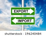 import or export  opposite... | Shutterstock . vector #196240484