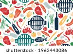 seamless pattern with barbecue. ...   Shutterstock .eps vector #1962443086