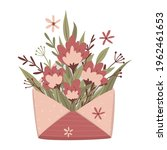 opened craft envelope with...   Shutterstock .eps vector #1962461653