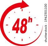 48 Hours Clock Arrow Vector...